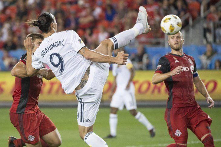 Zlatan durante un partido en la MLS.