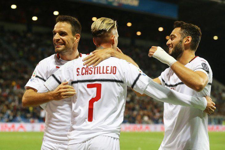 El Milan goleó este domingo.