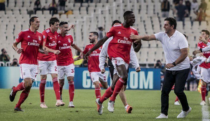 Alfa Semedo celebra su gol.