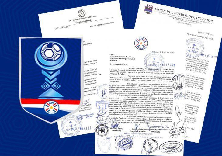 Las Divisionales dan su respaldo a Harrison y la Copa Paraguay.