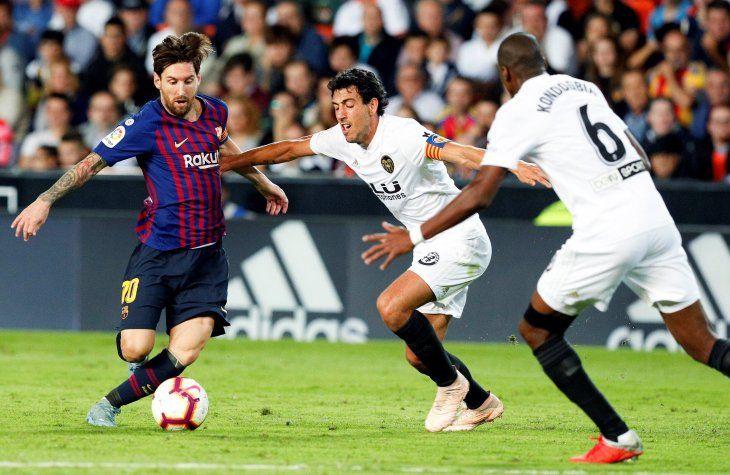 Messi marcó el empate para el Barcelona.