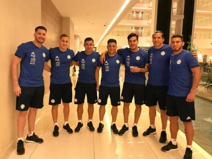 Jugadores de la Selección Paraguaya de Fútbol.