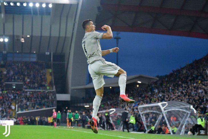 Cristiano Ronaldo solo conoce de victorias en la Juve.