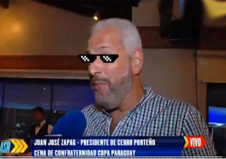 Zapag hizo un chiste sobre la clasificación de Olimpia.