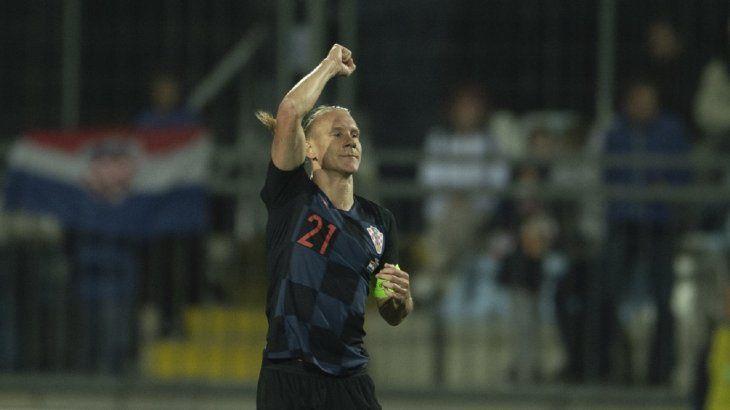 Vida marcó uno de los goles de Croacia.