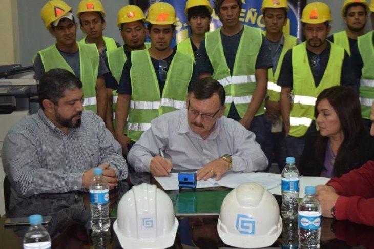Momento de la firma del contrato.
