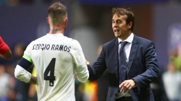 Sergio Ramos dijo que Lopetegui tiene el apoyo del vestuario.