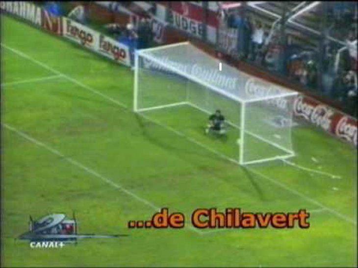 Imitan el gol de José Luis Chilavert.
