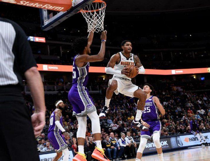 Los Nuggets ganaron por 126-112 a los Kings de Sacramento.