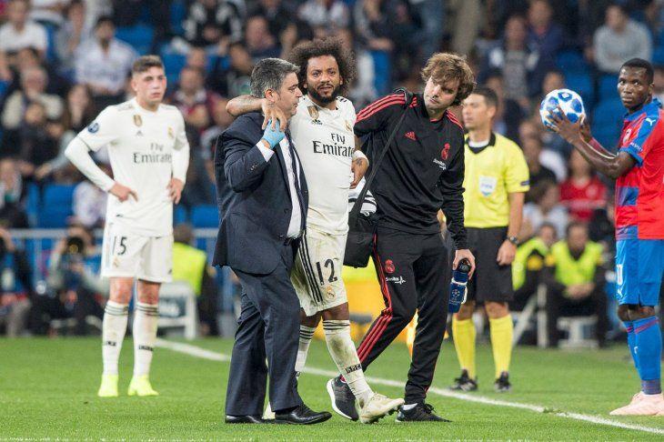 Marcelo se va recuperando de su lesión en el tobillo.