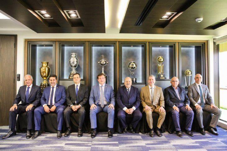Dirigentes del fútbol sudamericano.