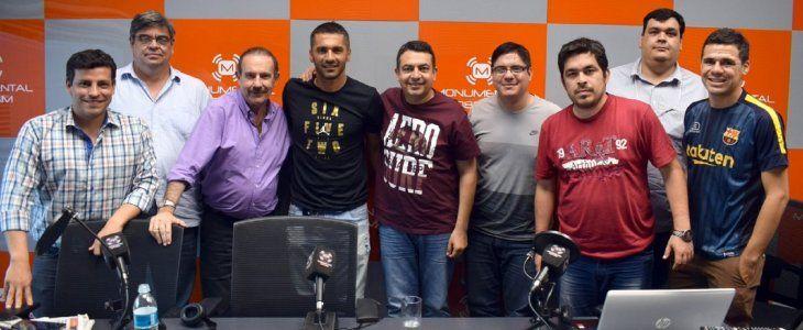 Salcedo estuvo como invitado en Fútbol a lo Grande.