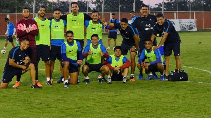 Jugadores de Cerro Porteño tras un entrenamiento.