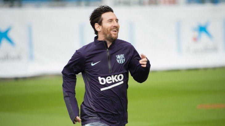La alegría de Lionel Messi al regresar a los campos de fútbol.