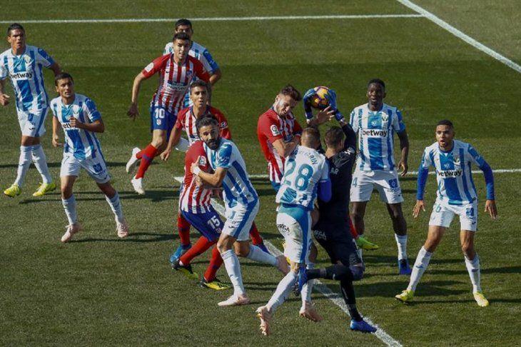 El Atlético de Madrid no pudo con el Leganés.