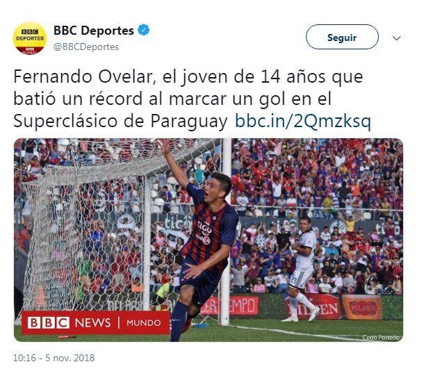 El mundo se rinde ante Fernando Ovelar