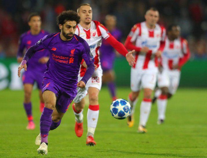 El Liverpool se estrella en Belgrado y se complica el pase a octavos.