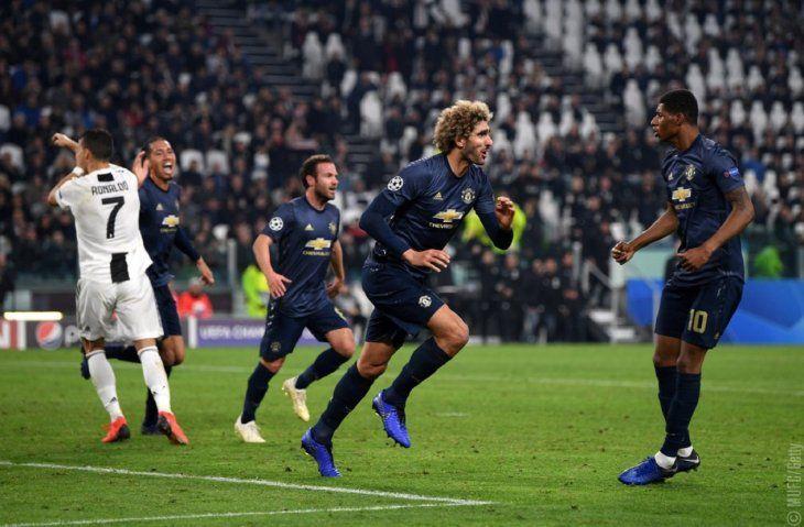 El United venció a la Juventus.
