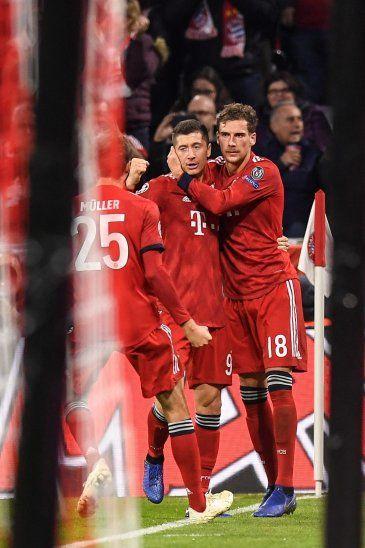 El Bayern ganó con dos goles deLewandowski.
