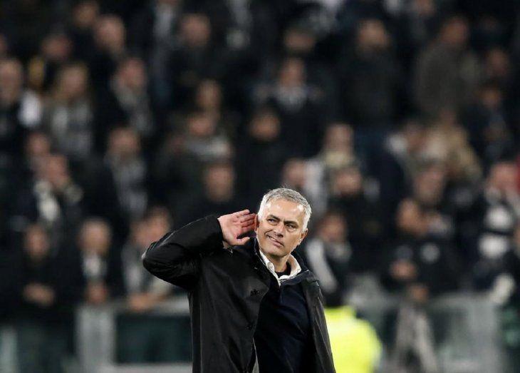 Así celebró Mourinho tras ganarle a la Juventus.