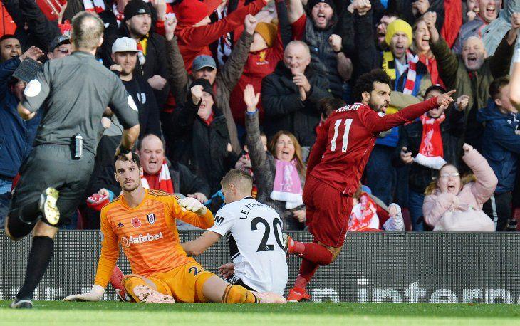 Salah abrió el camino frente al Fulham.