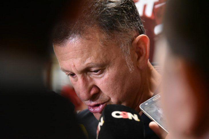 Juan Carlos Osorio en conferencia de prensa.