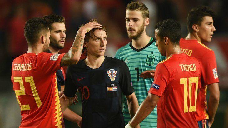 PARTIDAZO.Luka Modrić buscará llevar a su selección a la victoria frente a los españoles.