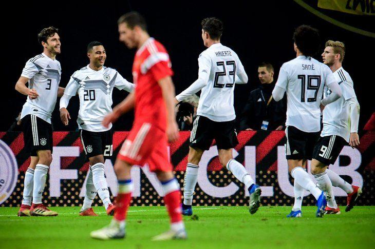 Alemania goleó a Rusia.