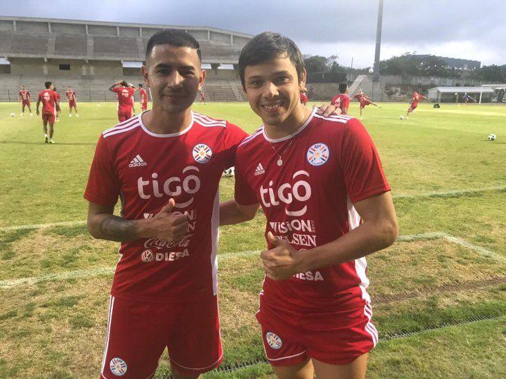 Derlis González y Ángel Romero se sumaron al entrenamiento de la Albirroja en Durban.