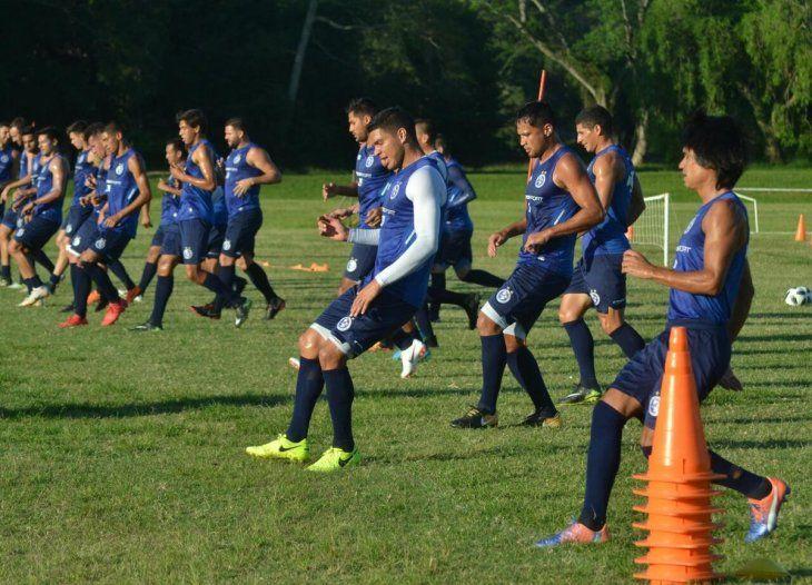 Los Dragones Azules durante un entrenamiento.