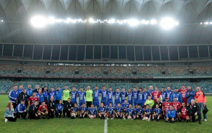 Paraguay en el Moses Mabhida Stadium.