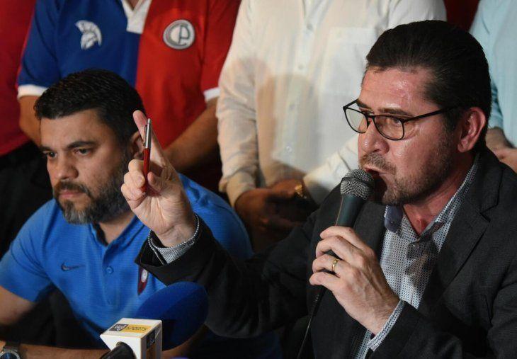 Maldonado habló en conferencia de prensa.