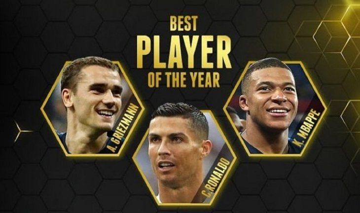 Los tres futbolistas nominados al premio Globe Soccer.
