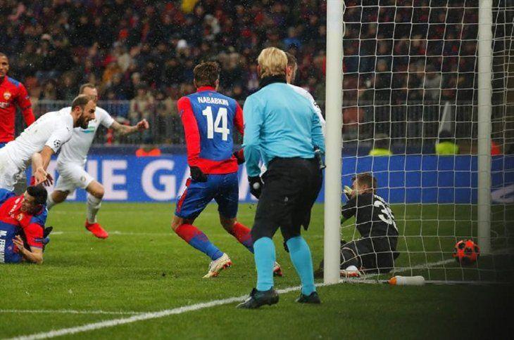 El Viktoria Plzen derrotó por 1-2 al CSKA.