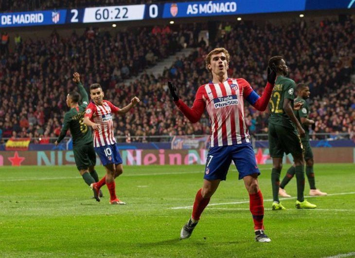 Atlético vence a Mónaco y pasa a octavos de final.