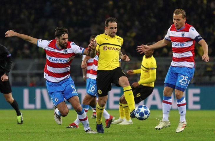 El Dortmund no pasa del empate ante el Brujas.