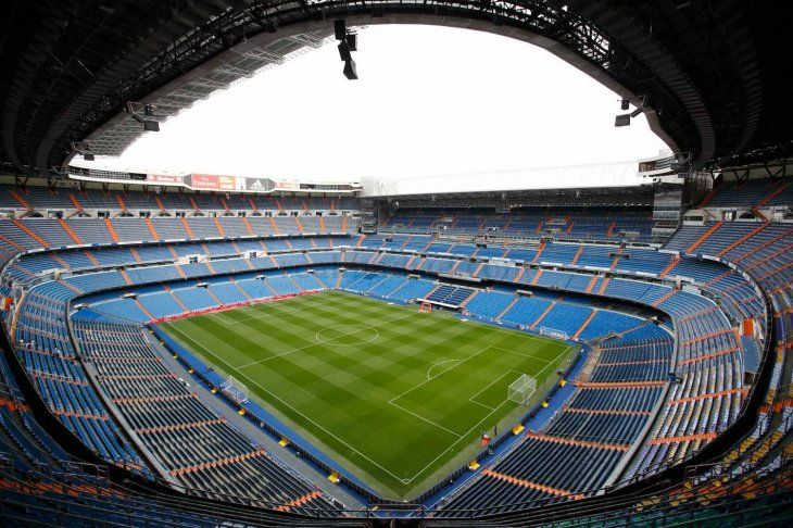 El estadio Santiago Bernabéu del Real Madrid.