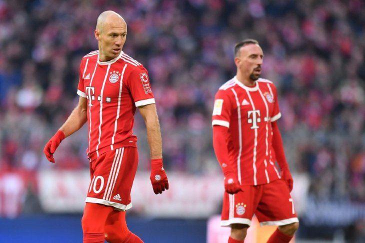 Robben abandonará el Bayern esta temporada y probablemente también Ribéry.