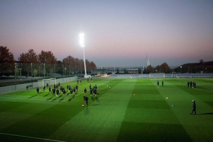 El plantel de Gallardo se movió en la Ciudad Deportiva de Valdebebas