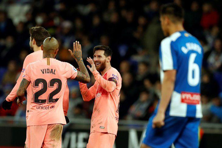 Messi brilló y comandó la goleada.