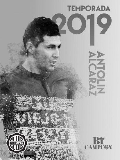 Gráfica con la cual el departamento de prensa de Olimpia anunció la llegada de Antolín Alcaraz.