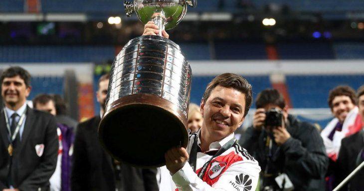 Marcelo Gallardo levantó su segunda Libertadores como entrenador de River Plate.