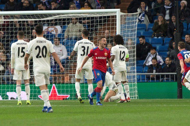 El CSKA golea en el Bernabéu.