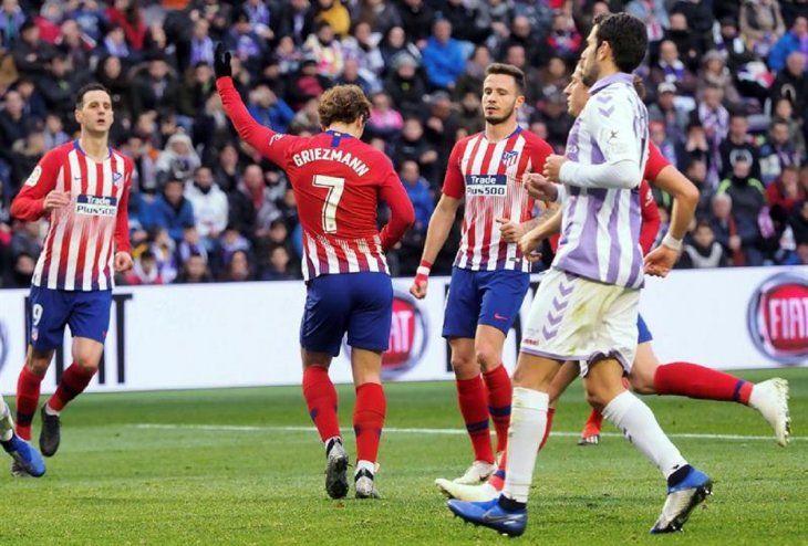 Griezmann rescata al Atlético en Valladolid.