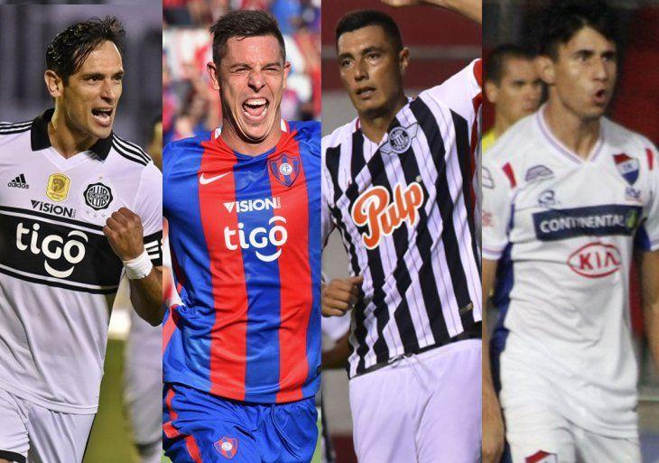 Los representantes paraguayos en la Libertadores.