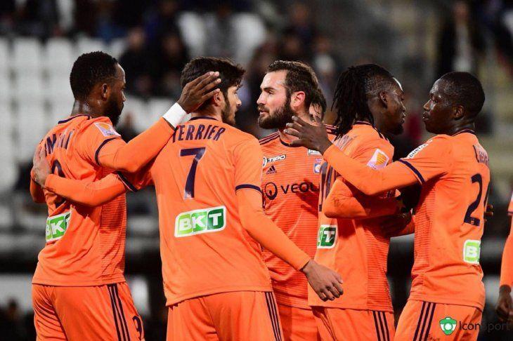 Olympique Lyon clasifica a los cuartos de final de la Copa de Francia.