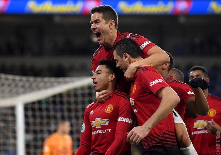 El United goleó en el debut de su nuevo entrenador.