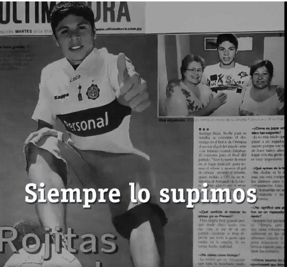 Olimpia anuncia a Juan Rodrigo Rojas.