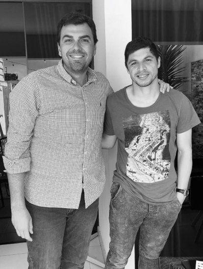 Rodrigo Rojas junto a Marco Trovato