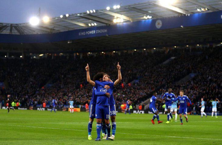 El Leicester derrotó al Manchester City.